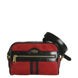 Gucci 517350 Mini Ophidia Red Crossbody Bag 190542